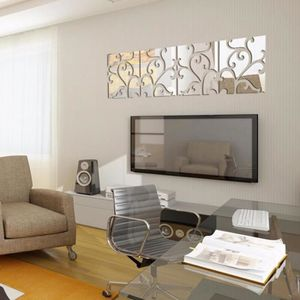 STICKERS TEMPSA 2Pcs Miroir Autocollant Mural 30x120cm ARGE