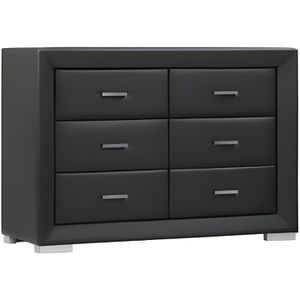 commode simili cuir achat vente commode simili cuir. Black Bedroom Furniture Sets. Home Design Ideas