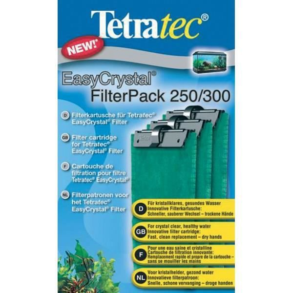 FILTRATION - POMPE TETRA Cartouches Filtre EasyCrystal Pack 250/300