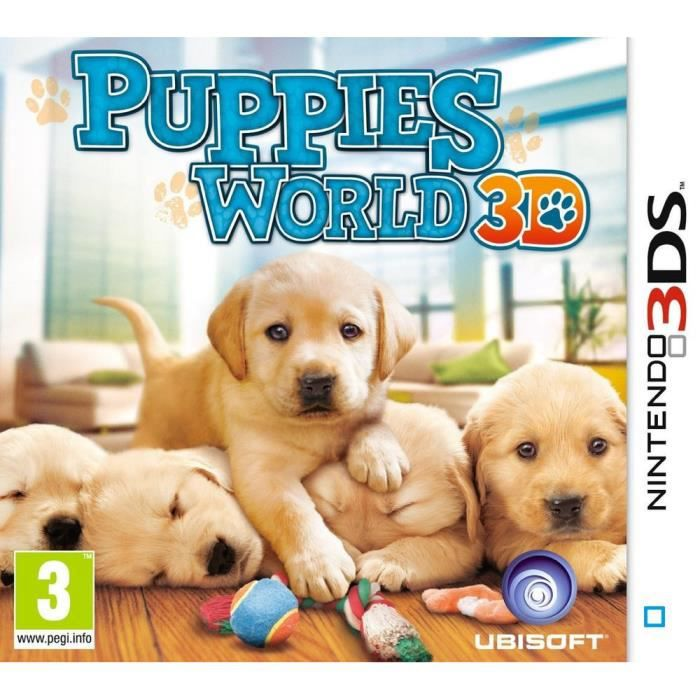 puppies world 3d jeu console 3ds achat vente jeu 3ds puppies world 3d jeu 3ds cdiscount. Black Bedroom Furniture Sets. Home Design Ideas