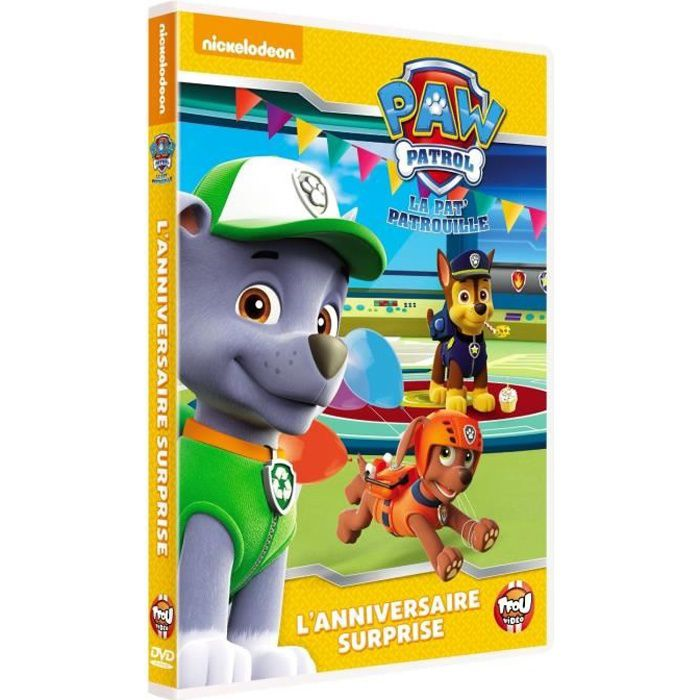 dvd paw patrol la pat 39 patrouille 3 anniversaire surprise en dvd dessin anim pas cher. Black Bedroom Furniture Sets. Home Design Ideas