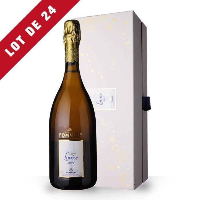 24x Pommery Cuvée Louise 2004 Brut - Coffret - 24x75cl - Champagne