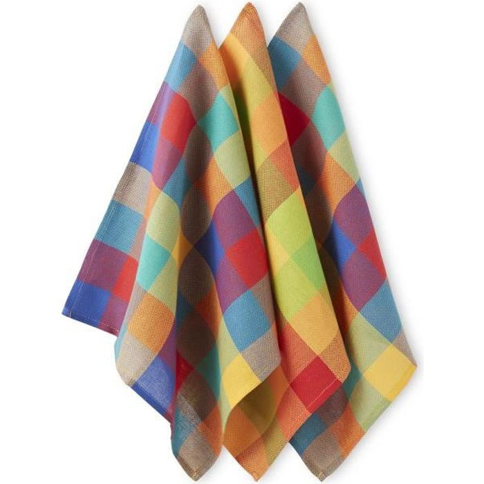 Lot de 6 serviettes de table madras