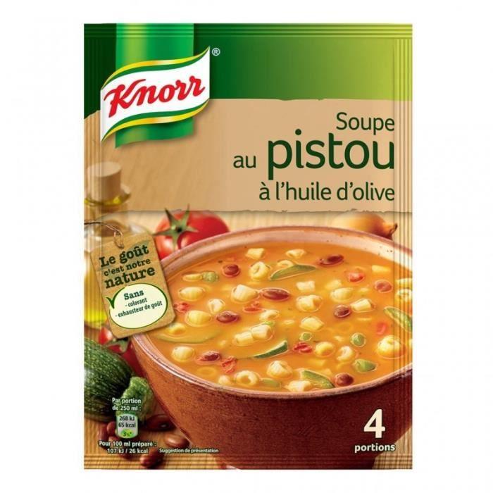 Knorr Soupe au Pistou à l'Huile d'Olive 80g (lot de 6)