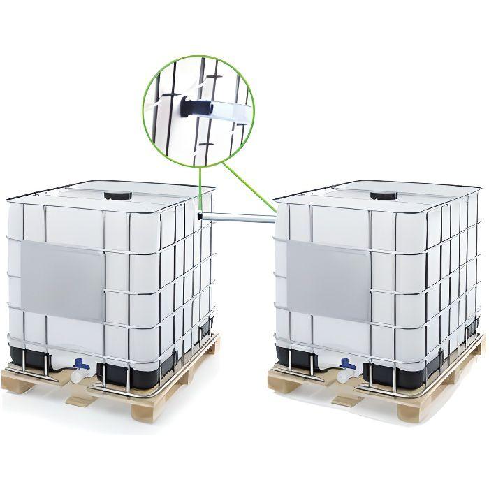Kit ECO de couplage pour 2 cuves à eau 1000 L - Ø 40 mm