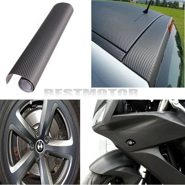 HT Autocollant 3D Film Vinyle Tuning Carbone Thermoformable Adhesif 30x152cm GRIS - HTPRM824A3004