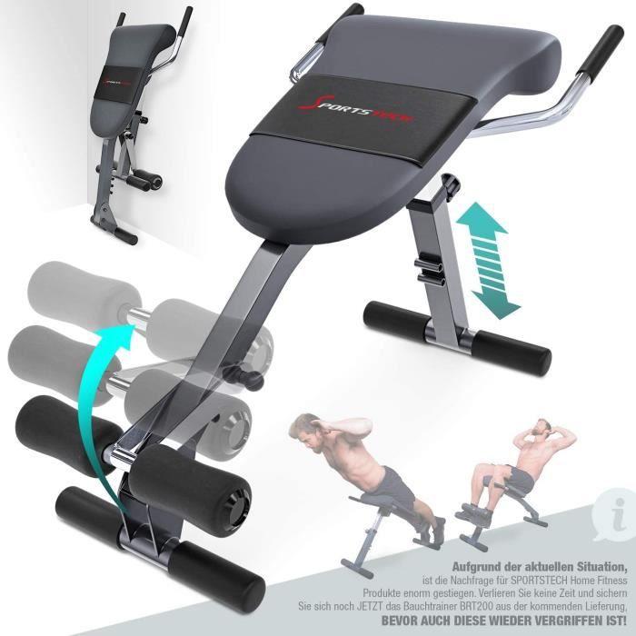 BANC DE MUSCULATION Sportstech Appareil d'entra&icircnement 3 en 1 unique pour le dos et les abdominaux avec design antid&eacut30