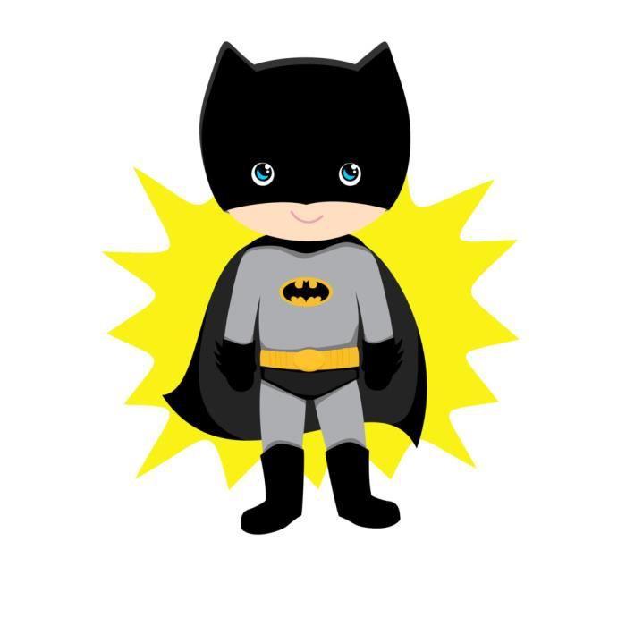 Poster Affiche Batboy Batman Garcon Enfant Dessin Mignon Super Hero 31cm x 40cm