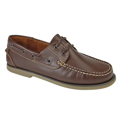 Dek - Chaussures bateau - Homme Cuir marron