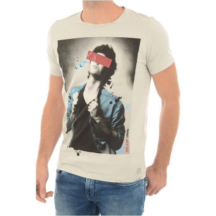 Tee Shirt Coton Printé Pm502293 Luke - Pepe Jeans