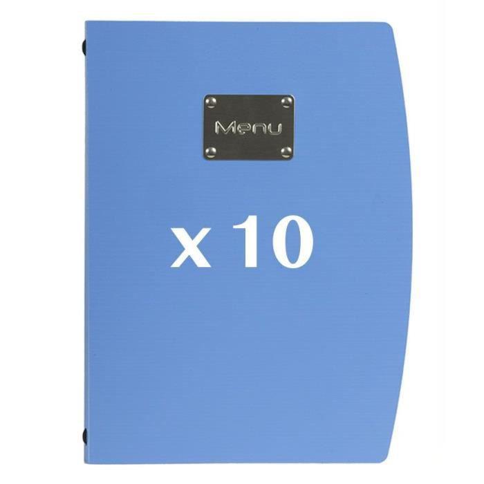 10 Protège-menus Rio bleu 18 PVC
