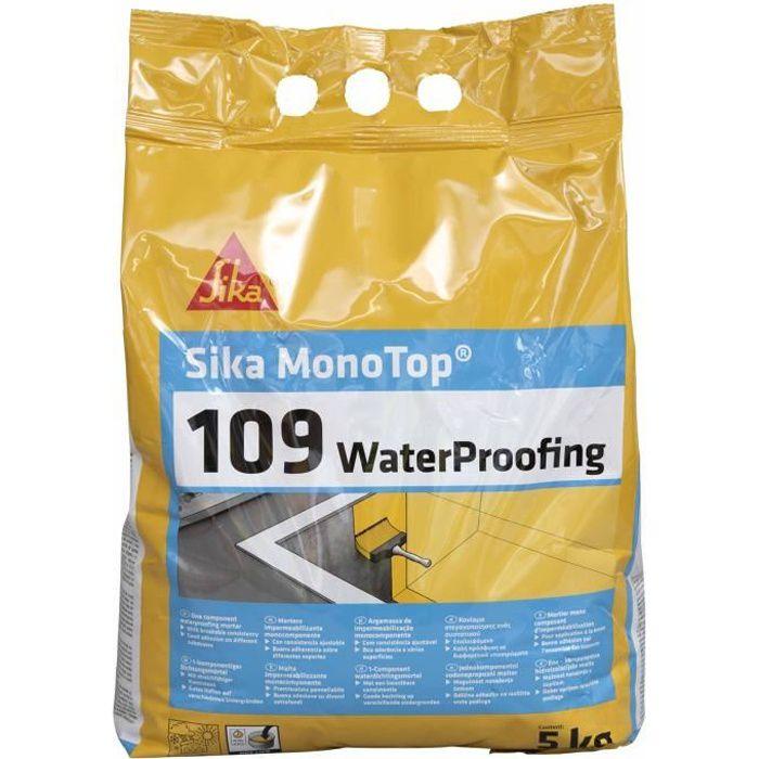 SIKA Mortier d'imperméabilisation pour locaux enterrés Monotop 109 Waterproofing - 5 kg