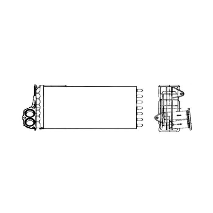 Radiateur de chauffage pour Peugeot 206 1.4 de 08/1998 à 04/2009