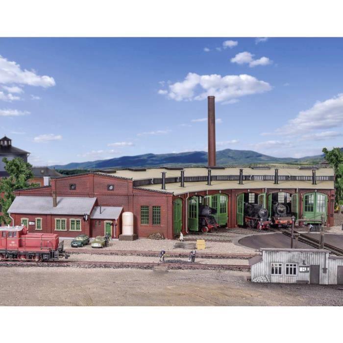 Rotonde pour 6 locomotives Vollmer 45758 H0 1 pc(s) - GARAGE A CONSTRUIRE - GARE A CONSTRUIRE - AEROPORT A CONSTRUIRE - PORT A