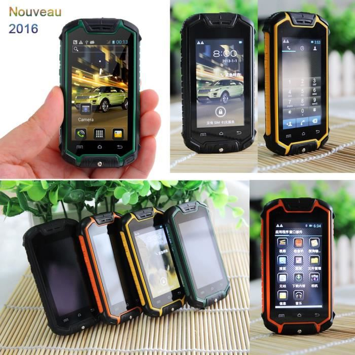 2016 nouveau super mini t l phone portable smartphone antichoc antipoussi re z18 dual core. Black Bedroom Furniture Sets. Home Design Ideas