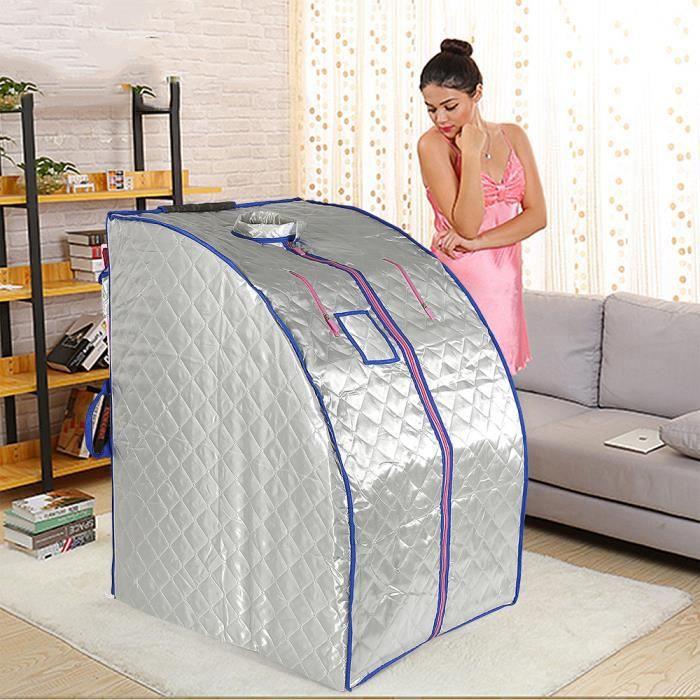 d/ésintoxication d/étente /à la maison tente de sauna pliante l/ég/ère pour perdre du poids amincissement du corps tente de spa personnelle avec vapeur de 1,5 L EU Spa domestique infrarouge portable