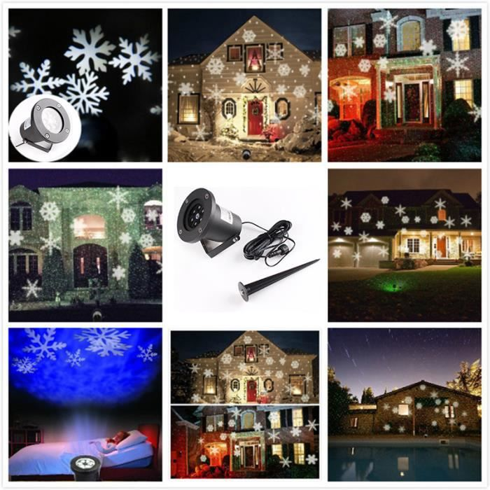 yida world mini projecteur rgb 50pcs sachet bonbon limi re laser neige no l clairage sc ne. Black Bedroom Furniture Sets. Home Design Ideas