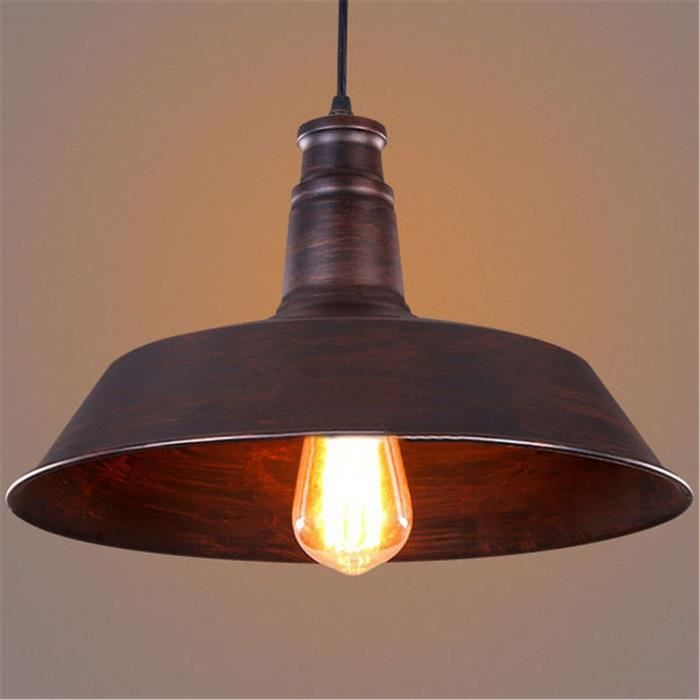 Lustre suspension design simple et r tro diam 36cm m tal for Suspension cuisine retro