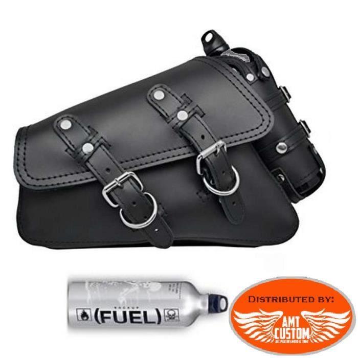 Sacoche de r/éservoir de carburant en cuir synth/étique pour Harley Sportster XL 883 1200 48