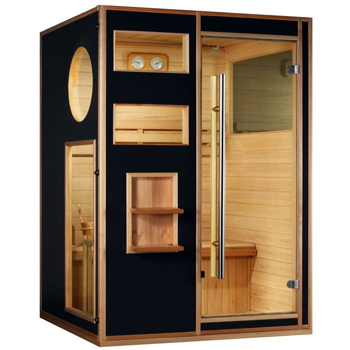 sauna tradition finlandais 2 3 places saga omega achat. Black Bedroom Furniture Sets. Home Design Ideas