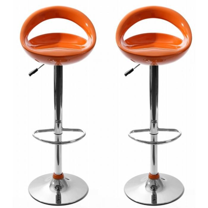 tabourets de bar snack orange lot de 2 achat vente. Black Bedroom Furniture Sets. Home Design Ideas