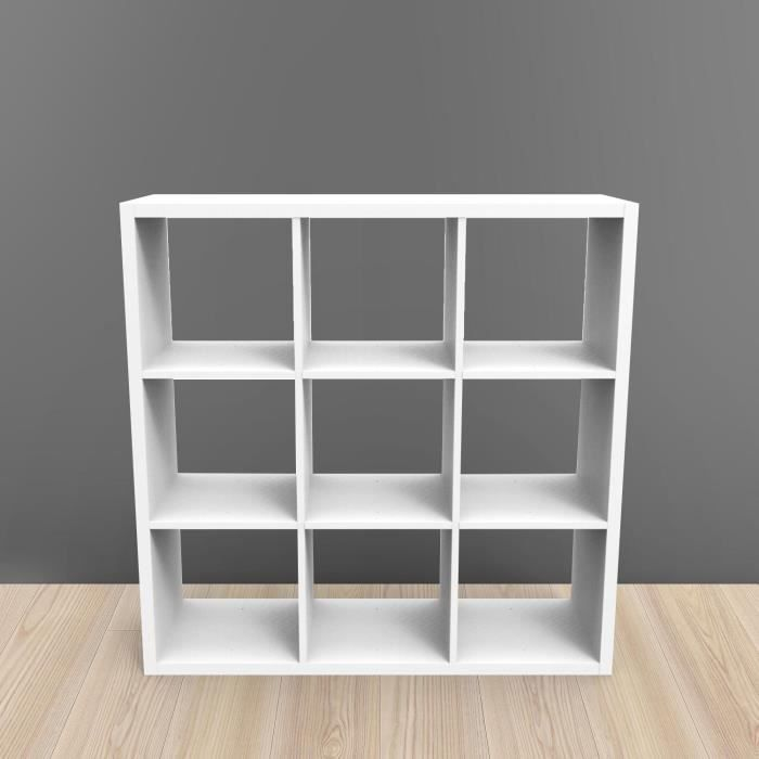 Etagere kubin blanc 9 cases achat vente meuble tag re for Meuble 12 cases