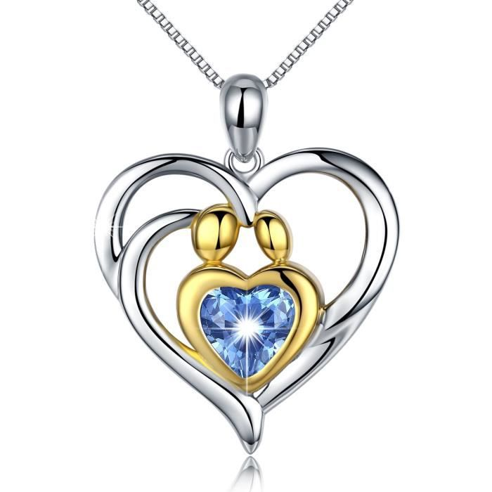 Heart /& Key Collier Avec Zircone cubique Argent sterling 925 pendentif avec chaîne