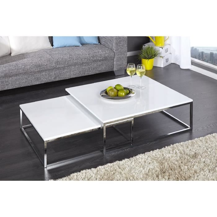 Table basse design Dooly blanc - Achat   Vente table basse Table ... 53ffb4e0ae44