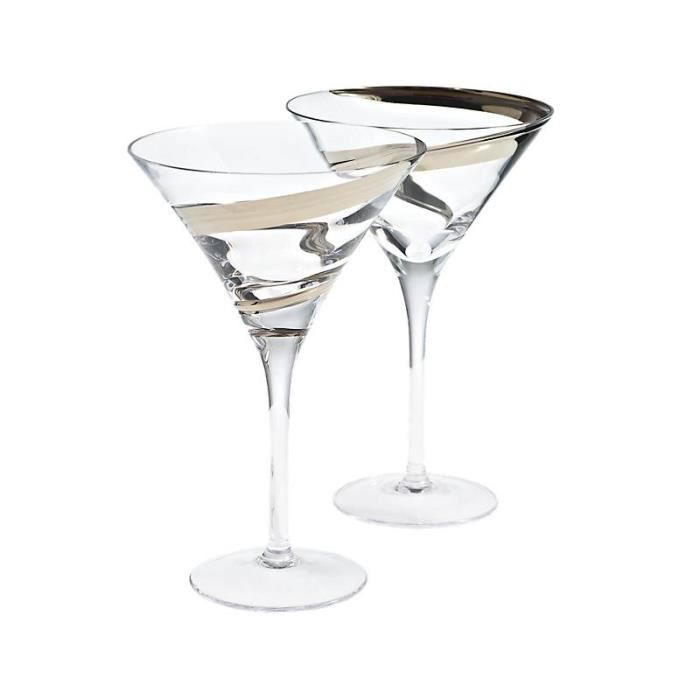 set de 2 verre martini en cristal malika achat vente verre cocktail cdiscount. Black Bedroom Furniture Sets. Home Design Ideas