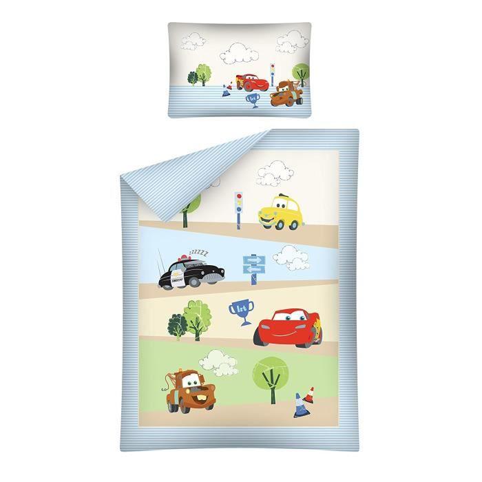 HOUSSE DE COUETTE ET TAIES Parure de lit Bébé Disney Cars 100% Coton - Housse