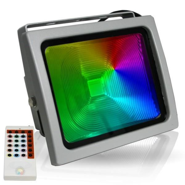 projecteur led 50w rgb radiofr quence achat vente. Black Bedroom Furniture Sets. Home Design Ideas