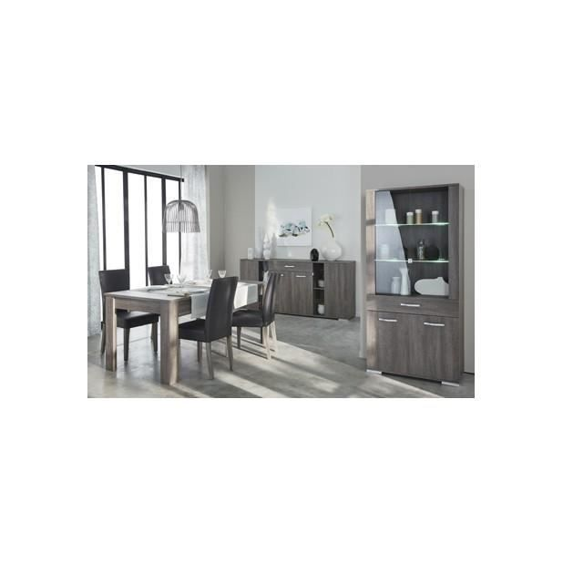 Ensemble sejour 4 el ments enfilade vitrine table de for Ensemble sejour complet