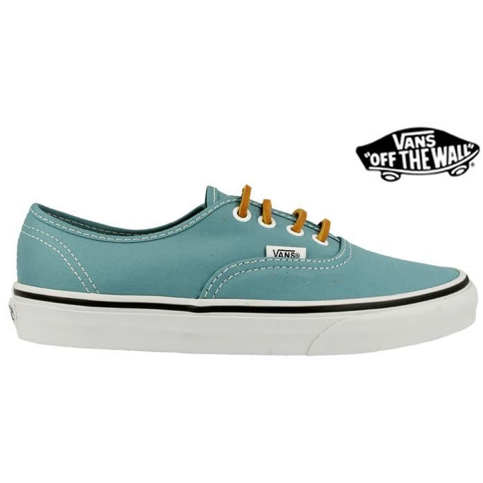 Vans Authentic Brushed (Lacets c... Marron Cuir - Achat ...