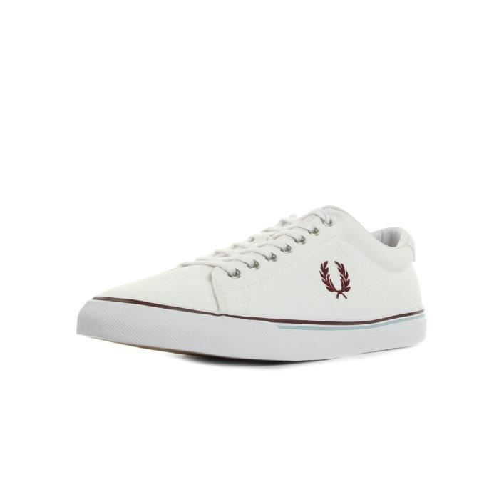 Baskets Fred Perry Underspin Canvas White Porto Sky Blue 30Rkd