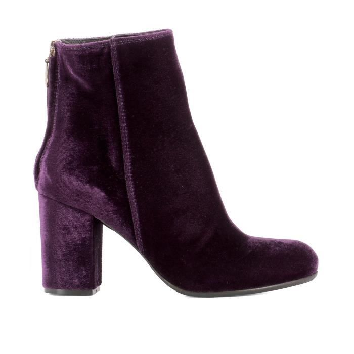 VELOURS FEMME TEXAS PX76VELVETPURPLE VIOLET PARIS BOTTINES 5ITpqww