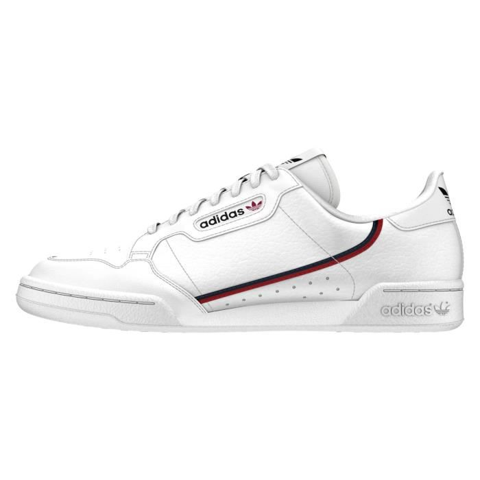 Basket ADIDAS Continental 80 - B41674 - AGE - ADULTE, COULEUR - BLANC,  GENRE - HOMME, TAILLE - 40
