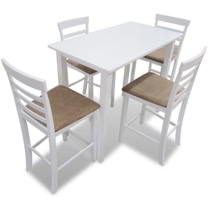 Ensemble Table Et 4pcs Chaises De Cuisine Salle A Manger Bar
