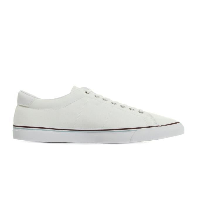 Baskets Fred Perry Underspin Canvas White Porto Sky Blue cXApB0Z