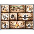 Nostalgic-Art Coffe House Ensemble de 9 Magnets pour Le frigo aux Motifs r/étro