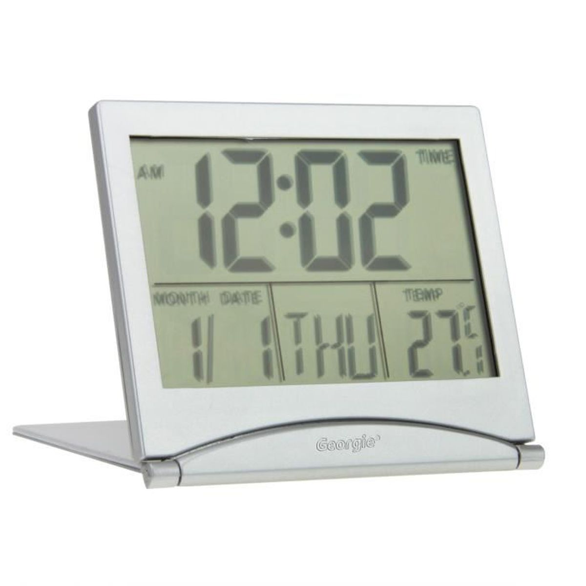 r veil digital de voyage horloge num rique avec calendrier. Black Bedroom Furniture Sets. Home Design Ideas
