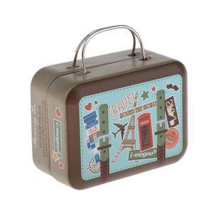 1:12 Dollhouse Miniature Doll Furniture Bagage en bois valise rouge