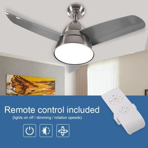VENTILATEUR DE PLAFOND Nickel Ventilateur de plafond 36 po avec LED lumiè