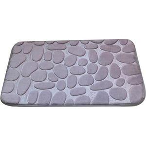 TAPIS DE BAIN  Gris Tapis de bain de sol de  cuisine Molleton en