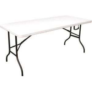 TABLE DE JARDIN  Table Pliante Camping Buffet  Fiesta Blanche. Long