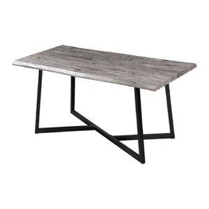 TABLE À MANGER SEULE Table à manger 160x80x75 cm en bois gris et métal