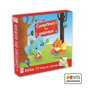 CD COMPTINES - ENFANTS Comptines des animaux - Inclus cahier de coloriage