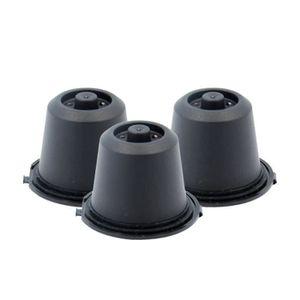 DISTRIBUTEUR CAPSULES HT 3x Noir Rechargeable réutilisables Capsules pou