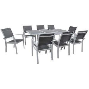 Ensemble table et chaise de jardin Salon de Jardin extensible 120/180