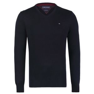 PULL TOMMY HILFIGER Pull col V Pacific - Homme - Noir