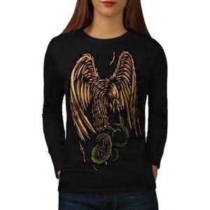 T-SHIRT Aigle Serpent Prier Mode Women  T-shirt à manches
